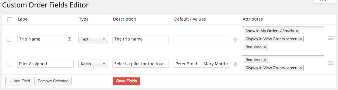 WooCommerce Admin Custom Order Fields Editor