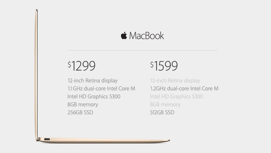 The New MacBook Specs and Pricing